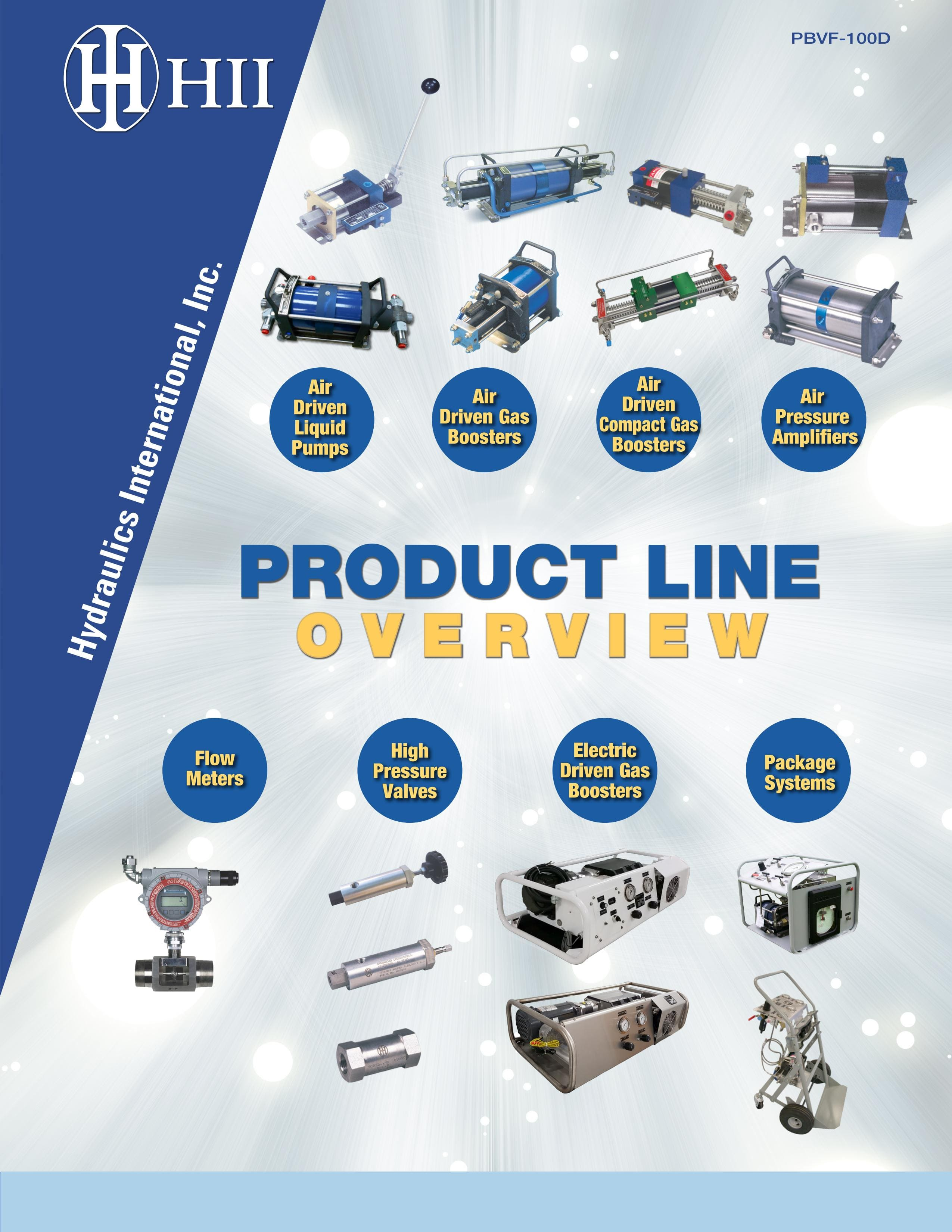 Hydraulic International Inc. overview catalog: pumps, gas  boosters, packages