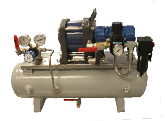 Air Compressors: Air compressors for high-pressure air supply from a low-pressure compressor or a 5-10 bar pneumatic line.