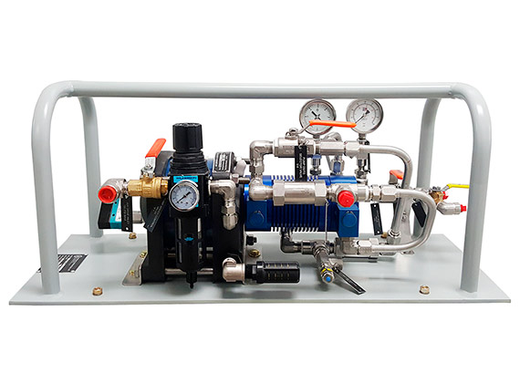Pumps and boosters for fire extinguishing agents handling